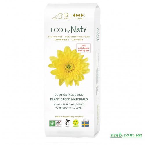 Органічні прокладки Eco by Naty Super 12 шт фото
