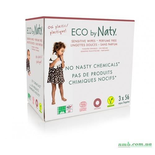 Органические салфетки Eco by Naty без запаха 168 шт (3 упаковки в 1) фото