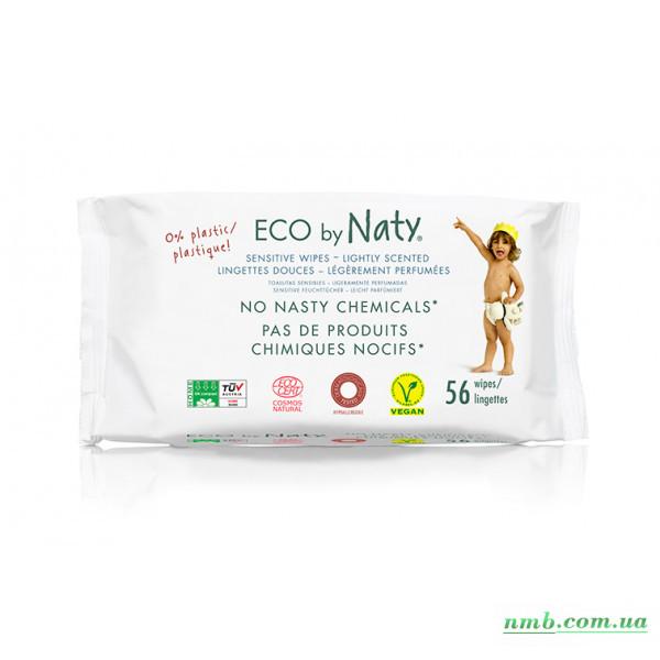 Органічні серветки Eco by Naty з легким запахом 56 шт фото