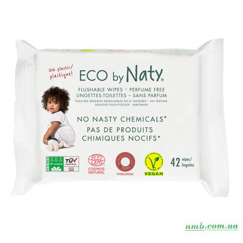 Органические смываемые салфетки Eco by Naty с легким запахом 42 шт фото