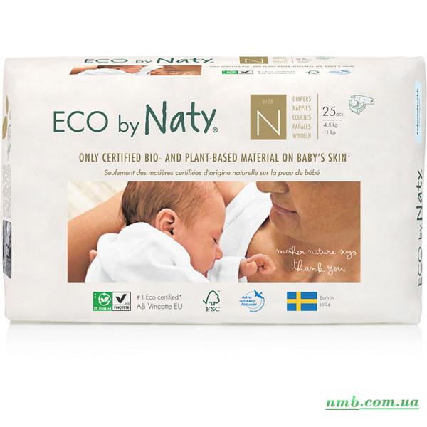 Органічні підгузники Eco by Naty Розмір 0 (до 4,5 кг) 25 шт фото