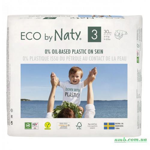 Органические подгузники Eco by Naty Размер 3 (от 4 до 9 кг) 30 шт фото