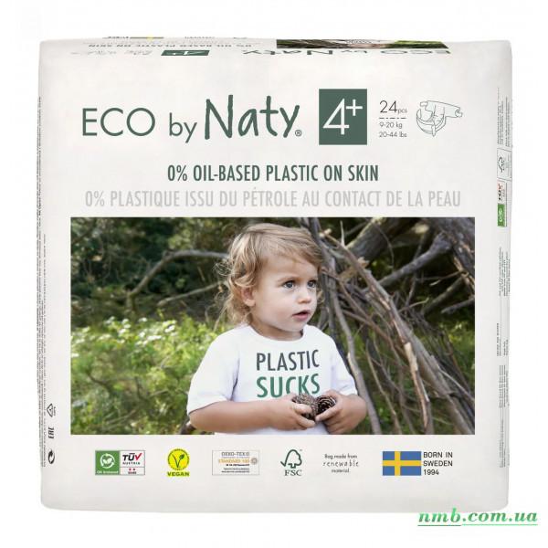 Органічні підгузники Eco by Naty Розмір 4+ (від 9 до 20 кг) 24 шт фото