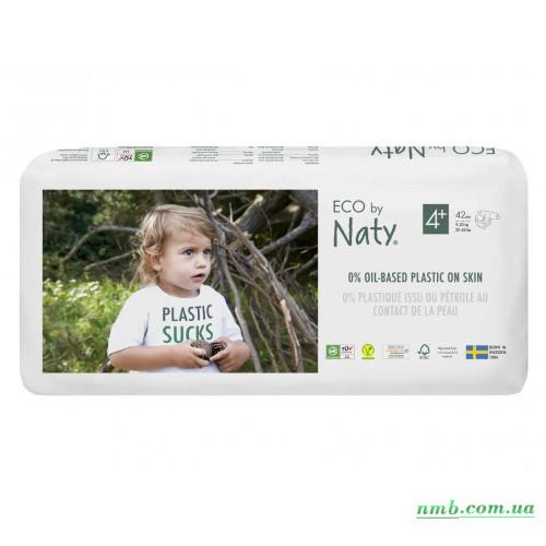 Органические подгузники Eco by Naty Размер 4+ (от 9 до 20 кг) 42 шт фото
