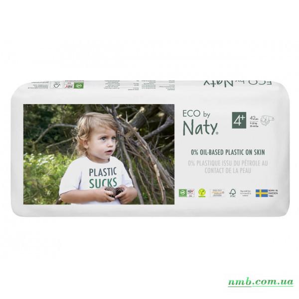 Органічні підгузники Eco by Naty Розмір 4+ (від 9 до 20 кг) 42 шт фото