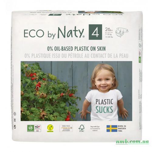Органические подгузники Eco by Naty Размер 4 (от 7 до 18 кг) 26 шт фото