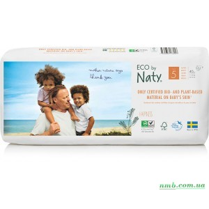 Органические подгузники Eco by Naty Размер 5 (от 11 до 25 кг) 40 шт