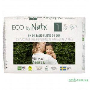 Органические подгузники Eco by Naty Размер 1 (от 2 до 5 кг) 25 шт