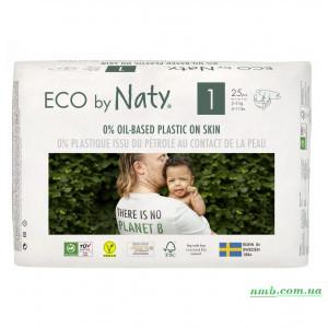 Органические подгузники Eco by Naty Размер 1 (от 2 до 5 кг) 25 шт фото