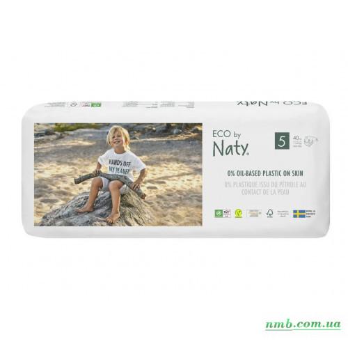 Органические подгузники Eco by Naty Размер 5 (от 11 до 25 кг) 40 шт фото