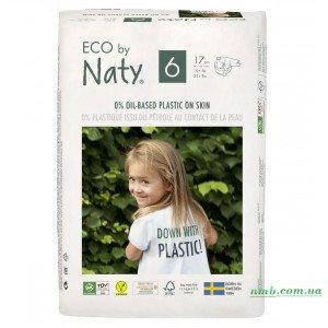 Органічні підгузники Eco by Naty Розмір 6 (від 16 кг) 17 шт
