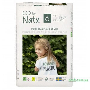 Органические подгузники Eco by Naty Размер 6 (от 16 кг) 17 шт