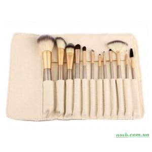 Набор кистей для макияжа 12 шт. из смешанного ворса фото