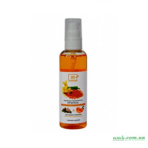 Натуральне гірчичне масло з ефірною олією ялиці фото