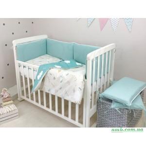 Комплект в кроватку NICE forest фото