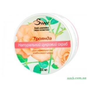 Натуральный сахарный скраб «Роза»