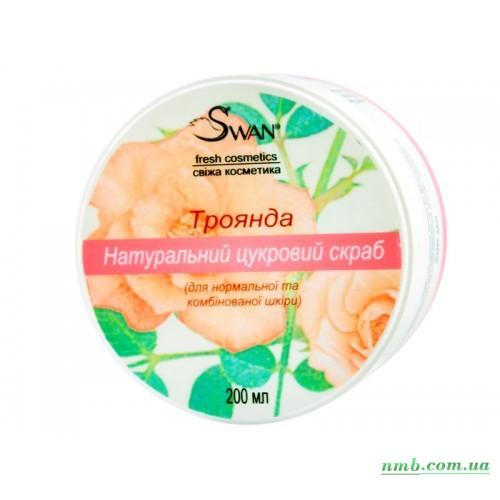 Натуральный сахарный скраб «Роза» фото